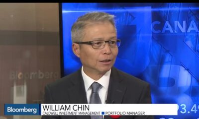Image of William Chin on Bloomberg TV discussing global bond markets, Nov. 13, 2016.