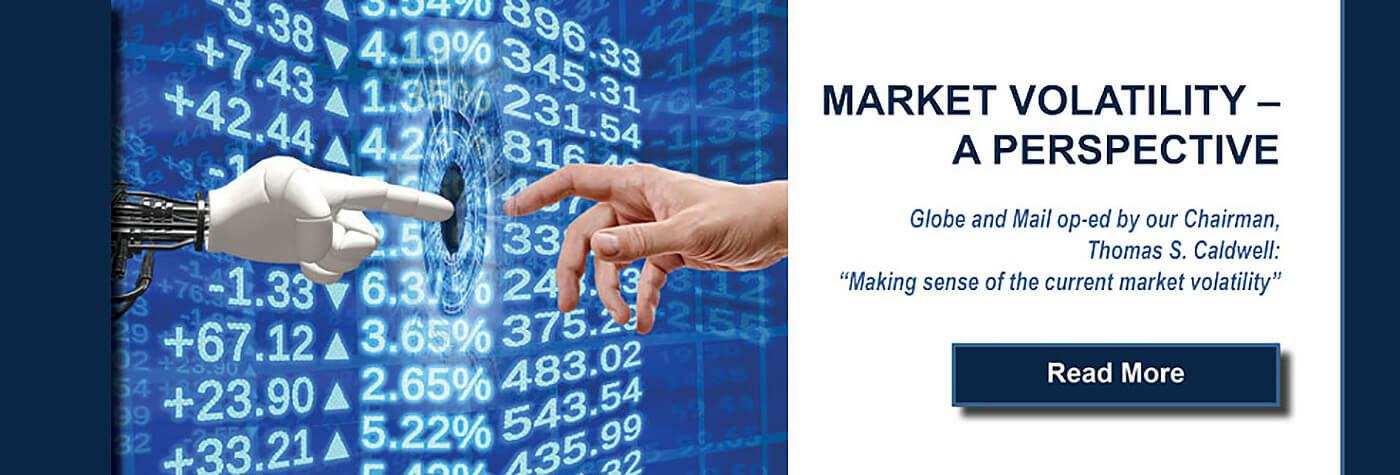 Market volatility banner